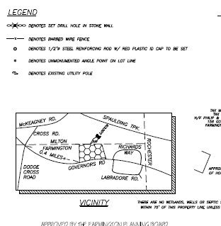 Land Survey Subdivision Sample